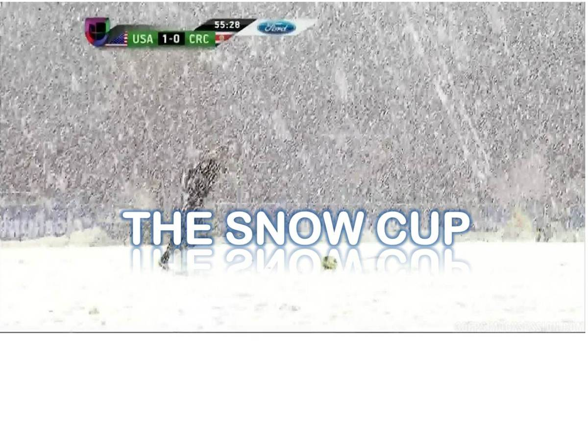 The Unbelievable Spring Soccer Snow Bowl: US v. Costa Rica