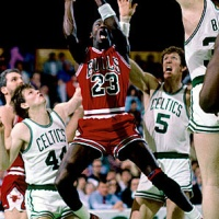 April 20, 1986:  Michael Jordan Sets Playoff Record in Battle Against Champion Celtics Team