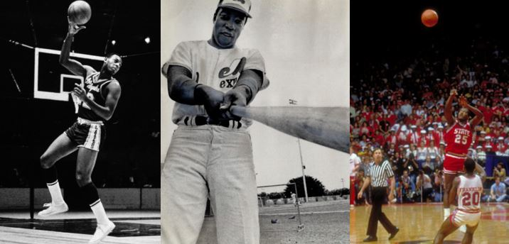 Apr-14: Elgin Baylor Scores 61, Expos First Home Game and NC State Stuns Houston the NCAA Finals
